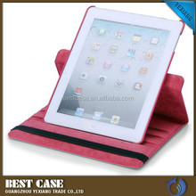 360 rotating design leather case for ipad