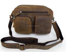Useful Crazy Horse Leather Men's Sling Bag , Shoulder Bag Leather Camera Bag # 7015B-2