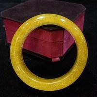 crystal bracelet bangle golden rutilated