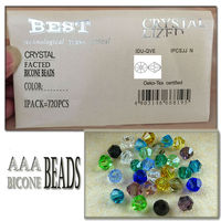 4mm clear glass bicone sharp 4mm bicone facted beads