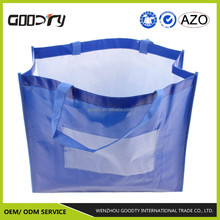 OEM standard size recycled foldable recycle pp non woven fabric grocery shopping tote bags with logo wholesale china factory