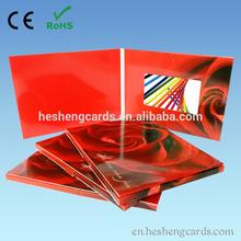materiales de papel tarjeta de vídeo tarjeta de visita de vídeo para la marca
