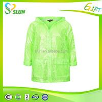 PVC cheap price colorful for biker womens raincoat