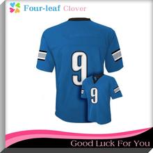 Wholesale Customized Football Jerseys Wear / 100% Polyester Mesh Wicking Material Football Shirts Sports Wear