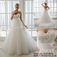 sweet heart neckline lace wedding dress for pregnant women