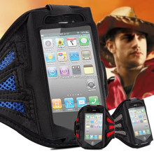 Retro Waterproof Sports GYM Luxury Flip Leather Case Running Armband For Iphone 4/4S
