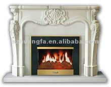Chino chimenea de mármol blanco para la decoración casera