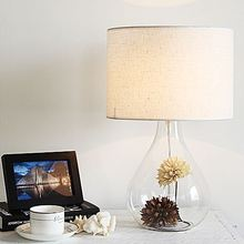 Nordic IKE Creative glass with dry flower table lamp art Lamp