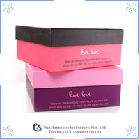 Heart Figure Paper Gift Boxs For Kids , Different Size Gift Boxes