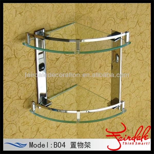 Estantes Para Baño De Vidrio:de alta calidad único triángulo rincón estante de vidrio baño