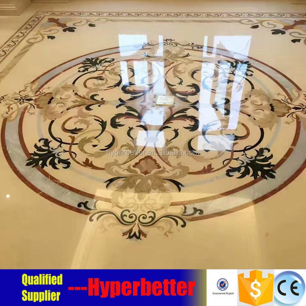 Waterjet medallion tiles for lobby.jpg
