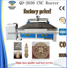 Máquina Probada CE del Ranurador del CNC de la Carpintería/Fresadoras CNC QD-2030