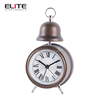 mini vibrating alarm clock with metal case for home decor