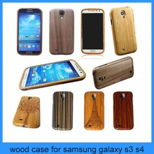 Natural Bamboo & Walnut Wooden Wood Case for Samsung Galaxy S4 I9500