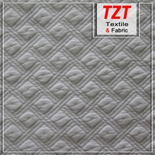 Polyester Stretch White Fabric Knitted Diamond Fabric