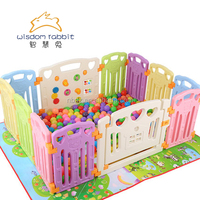 18+2 Large Playpen For Babies Baby Play Yard Kids Plastic Fence
