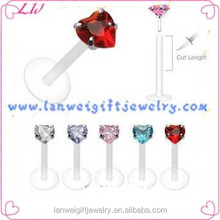 Lip ring 2014 newest fashion wholesale body piercing jewelry lip ring