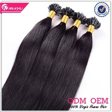 Best selling keratin fusion tip 100% remy human hair extension