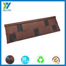 Sand coated afirca shingle flat factory price directly shingle roof tile