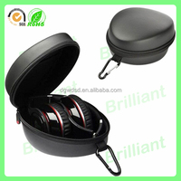 rectangular leather carrying headphone case
