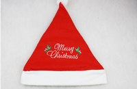 Embroidered English letters Children's kids red christmas hat Christmas Santa Claus hats