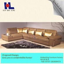 #1018 American wholesale wooden corner sofa design