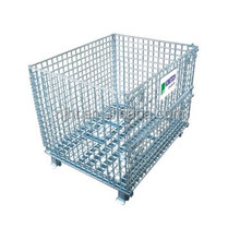 PVC coated industrial stackable collapsible steel metal wire mesh basket