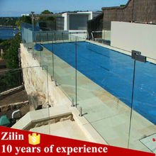 High quality 10mm 12mm tempered glass fence panels, tempered glass shower wall panels, tempered glass railing
