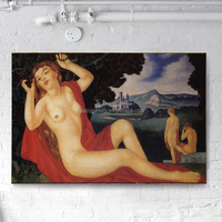 nude acrylic painting canvas