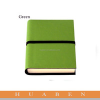 Huaben green leather cover log book with matching pen