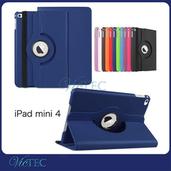 Hot selling 360 degree rotating leather 7 inch tablet cover for iPad Mini 4