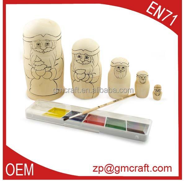 Artesanato em madeira, Em Branco set boneca de madeira
