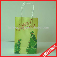 Christmas gift packaging paper bag with handle