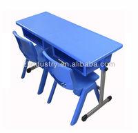 Popular plastic desktop dual student desk
