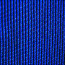 Blue 1x1 polyester pandex rib knit fabric weft fabric for suits