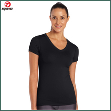 Spendex fabric cool feeling comfortable women's fitness shirt
