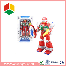 2015 Christmas gift kid toy big size Robot with light & music,turning robot