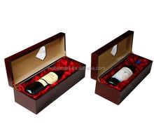 innovativi di alta qualità indonesiano superiore liquore scatole dipinte e miglior champagne ciliegio cassa di legno con cassetti