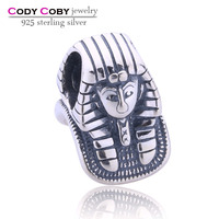 European 925 Sterling Silver Bead Great Sphinx Egyption Charms Silver Beads For Snake Chain Bracelet DIY Fashion Jewelry