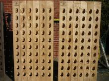 120 Bottle Riddling Wine Rack + Producer Branding untreated natural massive oak