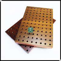 Hot sale good quality wood veneer mdf perforated acoustic panel