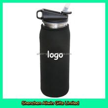 Customized Neoprene Black Bottle Insulator Sleeve