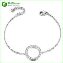 Custom metal fashion charm bracelet silver jewelry party