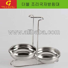 Kitchen Double Cutlery Holder ( ladle Holder)