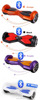2015 new products factory price two wheel balance scooters with bluetooth and led light hands free scooter