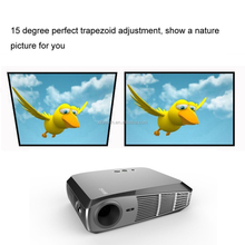 Wireless Micro Projector 1500 lumens,with 4-32GB Memory,support TF card and 3D Play