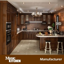 Luxury design solid wood kitchen cupboard design