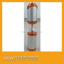 tempered glass dining table aluminum alloy legs