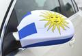 trasera banderas espejo retrovisor del carro bandera uruguay