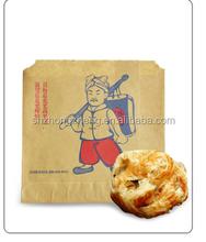 brown paper bag for fried food, fried chicken roast foods
